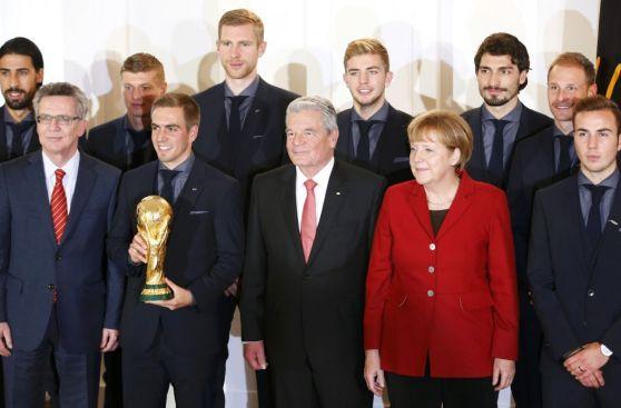 Selección alemana fue condecorada con el