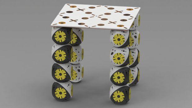Los Roombots, estos robots en bloques se convierten en muebles