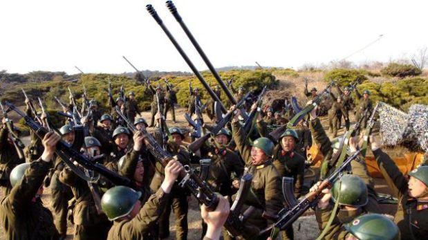 """Corea del Norte promete """"gran respuesta bélica"""" a Corea del Sur"""