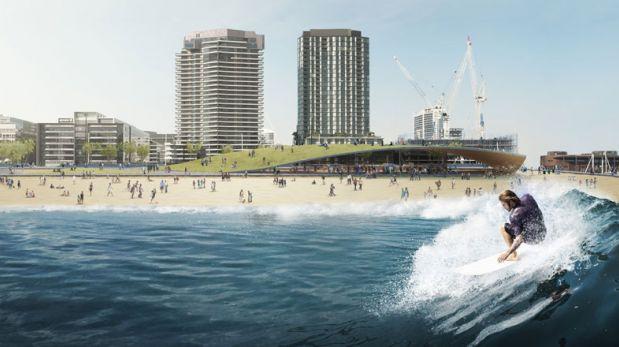 Corre olas artificiales en este parque de agua en Australia