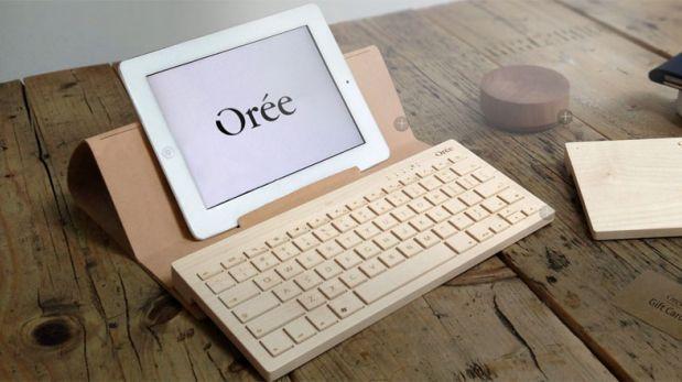 Tipea con este novedoso teclado hecho con madera ecológica