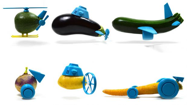 Convierte verduras en juguetes gracias a este curioso invento