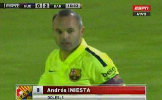 Barcelona vs. Huesca: Andrés Iniesta anotó golazo en su regreso