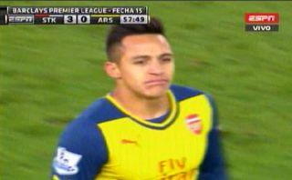 Arsenal: Alexis Sánchez y la increíble ocasión de gol que erró