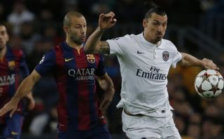 Barcelona vs. PSG: Zlatan anotó el 1-0 en el Camp Nou