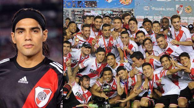 River Plate campeón: Radamel Falcao saludó a ex compañeros