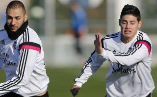 Real Madrid: James entrenó y parece recuperado para la final