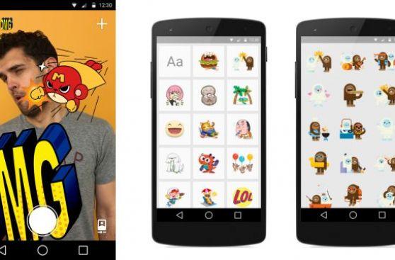 """Facebook lanzó """"Stickered"""", su app para poner stickers en fotos"""