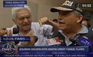 Urresti increpó a dirigente del Movadef por exposición (video)