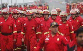 Año Nuevo: 2.500 bomberos atenderán emergencias en Lima