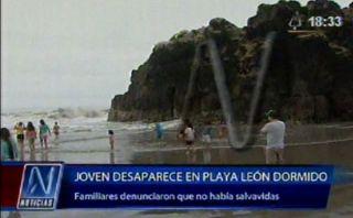 Año Nuevo: joven murió ahogado en la playa León Dormido