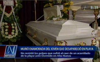 León Dormido: murió enamorada de joven desaparecido en playa