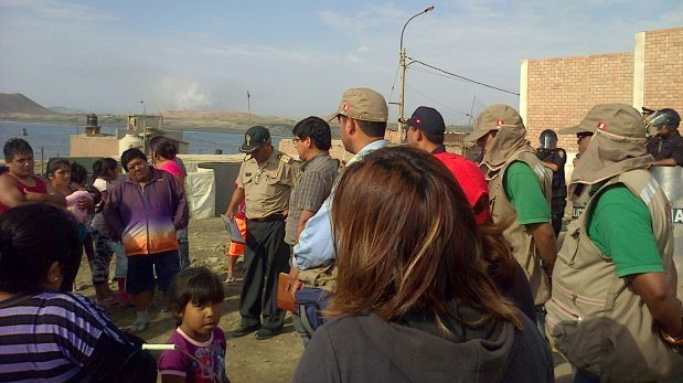 Retiran a pobladores que invadieron zona arqueológica en Huacho