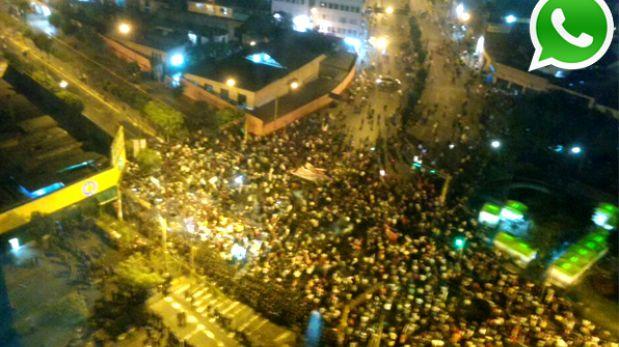 """WhatsApp: violencia y caos en cuarta marcha contra """"Ley Pulpín"""""""