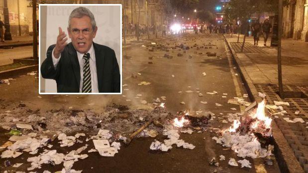 Castañeda criticó marcha contra 'ley pulpín' por daños en Lima
