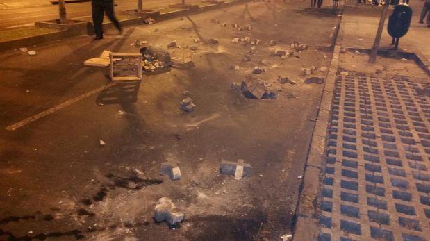 Marcha contra 'ley pulpín' dejó daños por más de S/. 26 mil