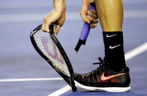 Dimitrov destrozó su raqueta ante Murray en el Australian Open