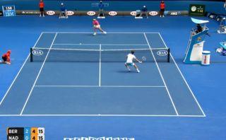 Rafael Nadal y el punto ante Berdych por el que fue ovacionado