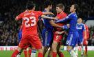 Steven Gerrard y Diego Costa se pelearon en pleno partido