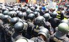 Opositores a 'ley pulpín' marchan por el centro de Lima