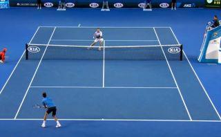 Djokovic y el magistral 'globo' que hasta Wawrinka felicitó