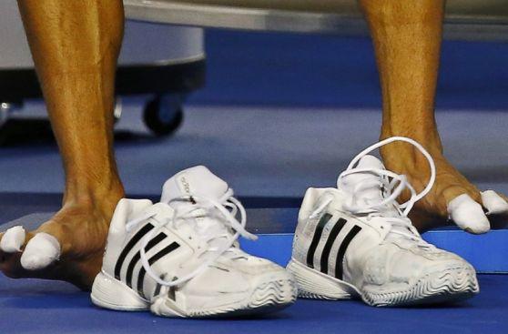 Novak Djokovic: así sufren los pies del número uno del mundo