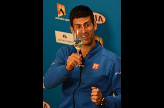 Novak Djokovic y los festejos tras su quinto Australian Open