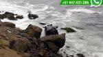 WhatsApp: auto con tres personas cayó al mar de Chorrillos - Noticias de chery