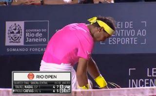 Rafael Nadal se cambió de shorts en el pleno partido