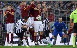 La Juventus empató con la AS Roma con golazo de Carlos Tevez