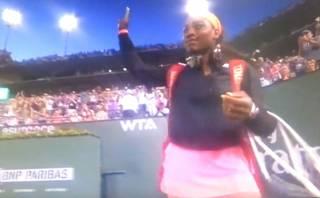 Serena Williams ovacionada en su regreso a Indian Wells (VIDEO)