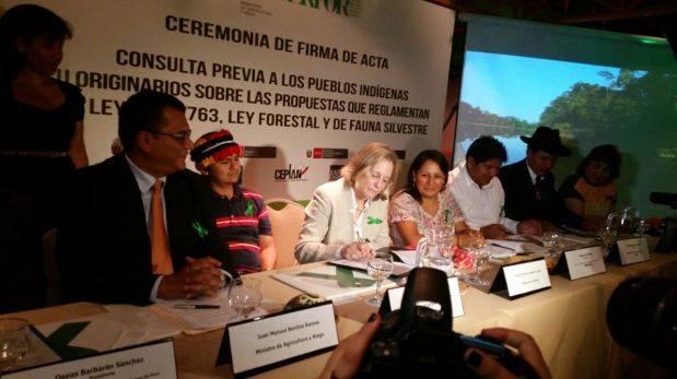 Ministerio de Agricultura firmó consulta previa de ley forestal
