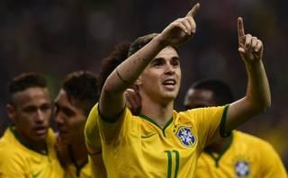 Francia vs. Brasil: el gol de Oscar con dos huachas seguidas