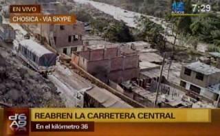 Chosica: Carretera Central fue reabierta después de 4 días