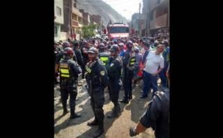 Chosica: vecinos bloquearon por una hora la Carretera Central