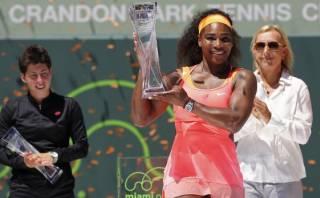 Serena Williams 'arrolló' a Carla Suárez y campeonó en Miami