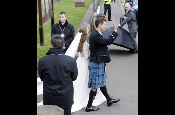 Tenista Andy Murray se casó en Escocia con Kim Sears (FOTOS)