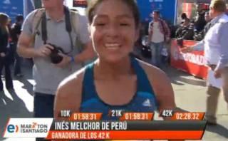 Inés Melchor ganó con récord Maratón 42k de Santiago de Chile