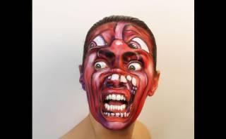 Tumblr: mujer se pinta la portada de 11 discos en su rostro