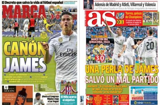 James Rodríguez: prensa española se rinde ante el colombiano
