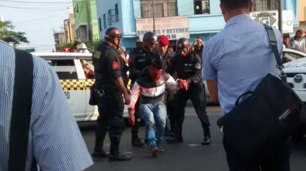 Surquillo: policía mata a ladrón que intentó asaltar a cambista