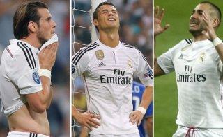 Real Madrid: Cristiano, Bale y Benzema son los más criticados
