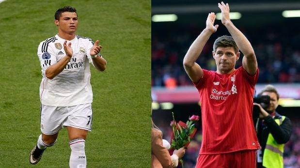 "Ronaldo a Gerrard: ""Fue un placer jugar frente a ti"" (VIDEO)"