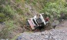 Áncash: caída de camión deja un muerto y dos heridos