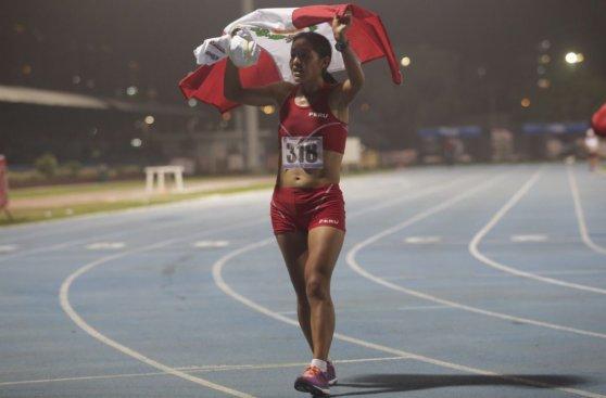 Inés Melchor se coronó en Sudamericano de Atletismo (FOTOS)
