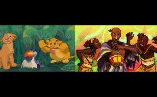 Artista imagina a personajes de 'El rey león' como humanos