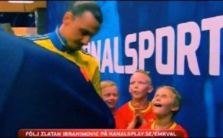 Zlatan Ibrahimovic: la increíble reacción de dos niños al verlo