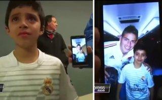 James Rodríguez cumplió el sueño de un niño chileno (VIDEO)