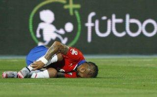 Arturo Vidal sufrió durísima entrada de Arévalo Ríos (VIDEO)