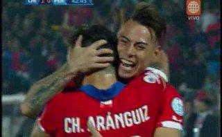 Perú vs. Chile: Eduardo Vargas marcó el 1-0 en fuera de juego
